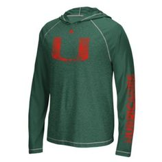 Miami Hurricanes adidas Ultimate Long Sleeve Hoodie T-Shirt af6123ac8