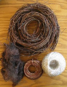 Great Bird Nest Tutorial . . . Bird Nest Minimal Materials by perpetualplum, via Flickr