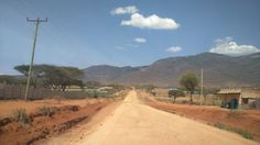Wamba Town Entry,Behind Mathew Ranges in Samburu Kenya.