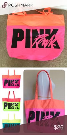 🎉HP🎉🎉Victoria's Secret PINK beach tote Used once,❌NO TRADE‼️ PINK Victoria's Secret Bags