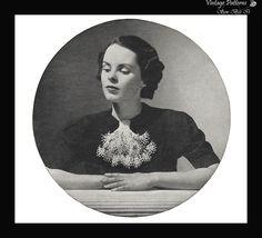 1930's Caprice Vintage Crochet Pattern Women's Ornate Collar Rare PDF Wartime #Caprice