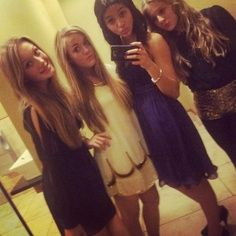 Lottie Tomlinson and friends at Louis' birthday as much as i love you lottie- a duck face? really?