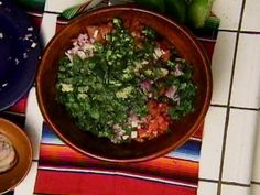 Salsa Fresca-Ingredients 4 ripe tomatoes, chopped 1/4 red onion, chopped 1 jalapeno, minced 8 cilantro sprigs, chopped 3 garlic cloves, minced Juice of 1 lime 1/4 cup olive oil 1/2 teaspoon salt