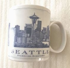 STARBUCKS coffee mug SEATTLE original 18 oz