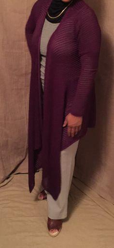 Women's cardigan, modest clothing, modest, cardigans for women, long cardigan, long sleeve, cardigan, draped cardigan, knit cardigan, by Siri2Siri on Etsy