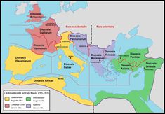 Diocese of Moesia - Roman Empire with dioceses in 300 AD Roman Empire Map, Pagan Festivals, Rome Antique, Empire Romain, Roman History, Roman Emperor, Southern Europe, The Son Of Man, Ancient Rome