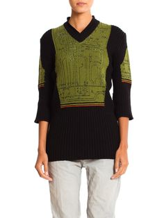 Rare 1990s Hand Knit Robot Sweater from Jean Paul Gaultier