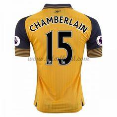 Billige Fodboldtrøjer Arsenal 2016-17 Chamberlain 15 Kortærmet Udebanetrøje