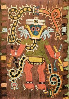 ancient paracas textiles - Google Search