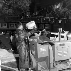 RKO & Snow Service - Behind the Scenes Photos From the Set of 'It's a Wonderful Life', 1946