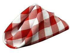 Red & White gingham napkins - perfect for a backyard BBQ or picnic. Made in the USA. http://www.amazon.com/dp/B005JFVNPC/?tag=fairlfashi-20