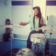 Uncle Reece on the drums
