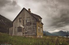 Norway's breathtaking scenery and its giant fjords were created thousands of years ago. The homes, many of them abandoned, in Troms county are similar to properties in the Scottish Highlands