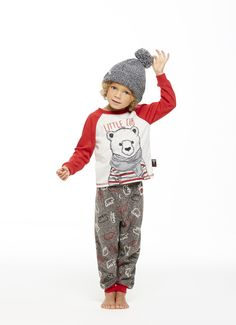 If you are bearly awake, you will want to stay inside and hibernate in these cabin friendly 2 piece sleep sets.These comfy sets include a free gift with purchase touque for added fun and instafamous photos! Toddler Pajamas, Matching Family Pajamas, Sleep Set, Free Gifts, Fall Winter, Comfy, Fun, How To Wear, Holidays