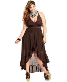Baby Phat Plus Size Dress, Sleeveless High-Low Maxi - Plus Size Dresses - Plus Sizes - Macy's