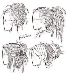 Dibujar peinados con rastas, by Kibbitzer