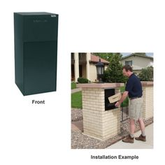 Amazon.com : dVault Mailboxes Curbside Delivery Vault w/o Letterbox, DVCS0020-1, Black : Patio, Lawn & Garden