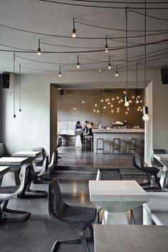 Concrete restaurant in Berlin / Betonowa restauracja w Berlinie    #concrete #interiors