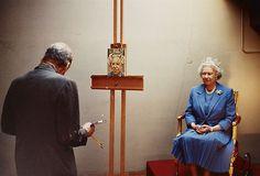 Lucien Freud Painting Queen Elizabeth II