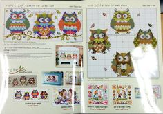 The owl family counted cross stitch pattern by SODAstitchUJT