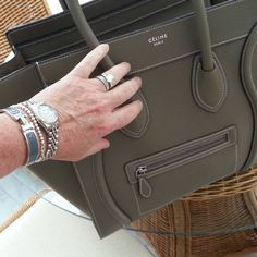 Today's bag. #celineminiluggage  #rolex #hermesclich #tiffanybow