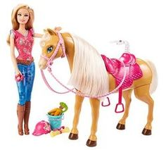 "Barbie Feed & Cuddle Tawny Horse and Doll Playset - Mattel - Toys""R""Us"