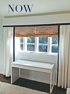 Beautiful window treatment - love the layers