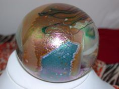 Artisan Signed Glass Paper Weight