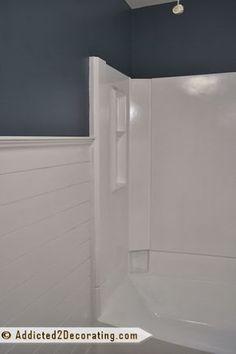 Painted Fiberglass Bathtub And Tub Surround
