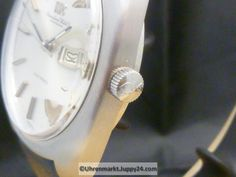 IWC Electronic Stimmgabeluhr Stahl Tag / Datum Top Zustand Lederband - Iwc, Michael Kors Watch, Electronics, Tags, Leather Cord, Wrist Watches, Watches Michael Kors