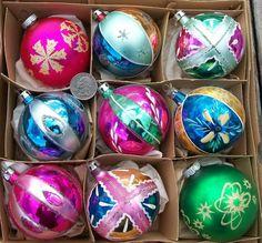 Vintage Glass Christmas Tree Ornaments