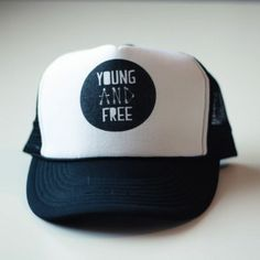 Young and Free Trucker Hat at Little Trendsetter Little Man Style 215f105ae37