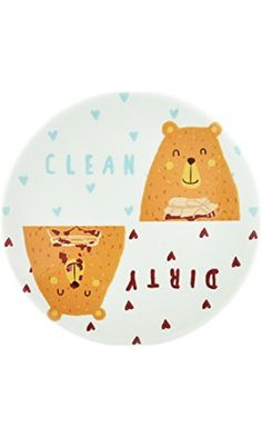 Clean Dirty Dishwasher Magnet by Three Rivers Trading Post, Cute 3.5 Round Home Kitchen Accessory