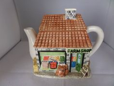 Your place to buy and sell all things handmade Farm Shop, House Gifts, Cat Sitting, Tea Pots, Shopping, Etsy, Design, Tea Pot