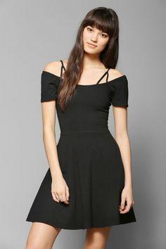 Black shoulder straps skater dress from Urban Outfitters.