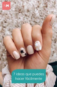 55 Pretty Star Nail Art Designs You Should Try Star Nail Art, Star Nails, Cute Nail Art Designs, Star Nail Designs, Cute Nails, Pretty Nails, My Nails, Pink Nails, Trim Nails
