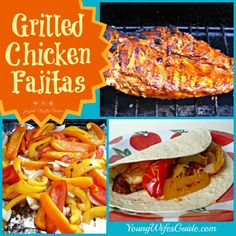 Grilled Chicken Fajitas - sooo easy and yummy! Looking for something to make for dinner tonight? Here's a quick and easy recipe!