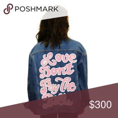 Millioneiress denim jacket Millioneiress denim jacket. Sold out. One size fits most. Medium wash. Vintage denim. Hand painted by Leah. Millioneiress Jackets & Coats Jean Jackets