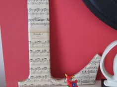 Upcycled Letter L Hotel Letter With Sheet Music Typography Interior Design Designer, Used Other Home Decor For Sale in Portarlington, Laois, Ireland for euros on Adverts. Letter L, Sheet Music, My Design, Typography, Interior Design, Projects, Home Decor, Upcycled Crafts, Letterpress