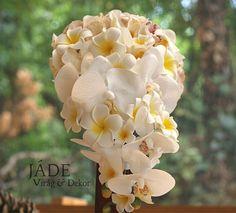Frangipáni orchidea örökcsokor kaszkád formában Jade, Plants, Plant, Planets