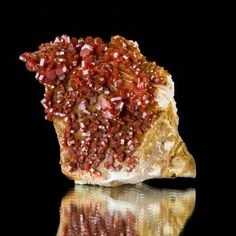 "4.5"" Saturated Red VANADANITE Crystals on Bladed White Barite Morocco for sale - $700"
