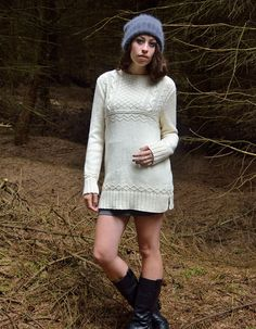 STORM, WEALD guernsey style A-line tunic | Kim Hargreaves