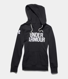 Women's UA Favorite Fleece Hoodie, Black , Laydown