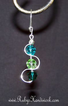 Wave Swarovski Crystal Earrings by RubysHandiwork.com on Etsy