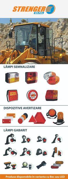 Accesorii auto din categoria de lampi semnalizare, lampi gabarit cu led sau cu bec si dispozitivele de avertizate pentru masini mari, camioane, autocamioane si tractoare.