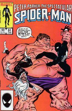 Peter Parker, The Spectacular Spider-Man # 91 by Al Milgrom
