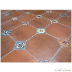 Mexican Tile Flooring   Mexican Tile - 13x13 Tierra Floor Tile Octagonal