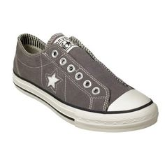 Target : Women's Converse® One Star® Laceless Slip-on - Grey : Image Zoom