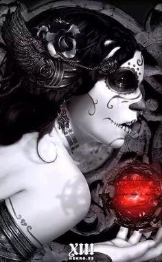 Sugar skull art