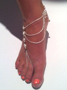Barefoot jewerly Anklet ankle chain Beach by JewelzonJewelz